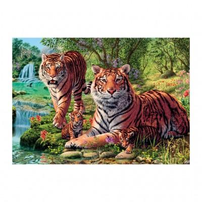 Dino-53262 Secret Puzzle - Tigers