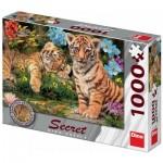 Dino-53277 Secret Puzzle - Tiger Babys