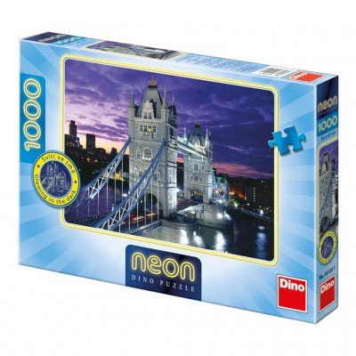 Dino-54120 Neon Puzzle - Tower Bridge, London