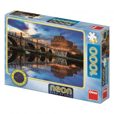 Dino-54129 Neon Puzzle - Angel Castle