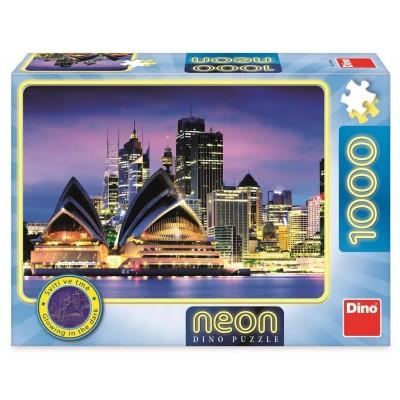 Dino-54130 Neon Puzzle - Sydney Opera