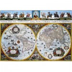 Puzzle  Dino-55123 Antike Weltkarte