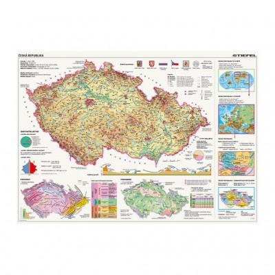 Puzzle Dino-56117 Karte der Tschechischen Republik