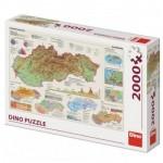 Puzzle  Dino-56120 Karte der Slowakei