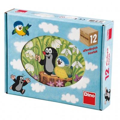 Dino-64112 Holz Würfelpuzzle - Der Maulwurf