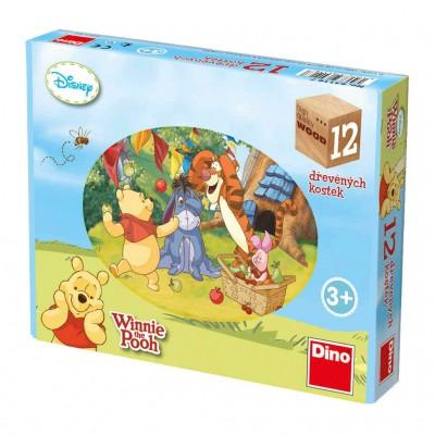 Dino-64116 Holz Würfelpuzzle - Winnie the Pooh