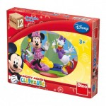 Dino-64117 Holz Würfelpuzzle - Mickey