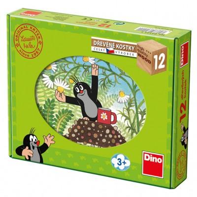 Dino-64121 Holz Würfelpuzzle - Der Maulwurf