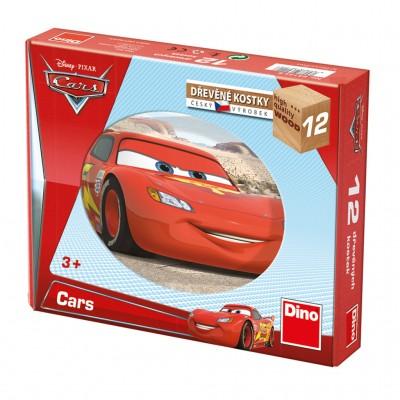 Dino-64122 Holz Würfelpuzzle - Cars