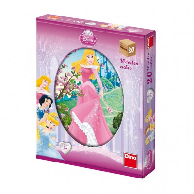 Dino-64207 Holz Würfelpuzzle - Disney Princess
