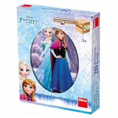 Dino-64209 Holz Würfelpuzzle - Frozen