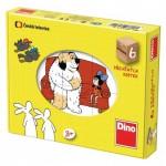 Dino-64311 Holz Würfelpuzzle - Erzählungen