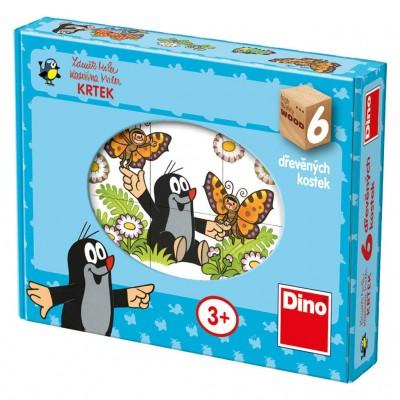 Dino-64312 Holz Würfelpuzzle - Der Maulwurf