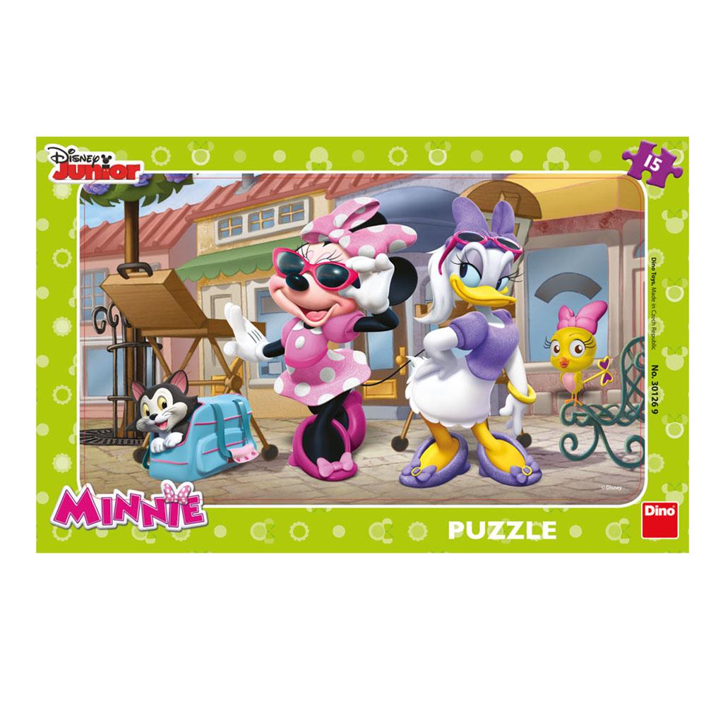 Rahmenpuzzle - Minnie Dino-30126 15 Teile Puzzle Micky Maus und ...