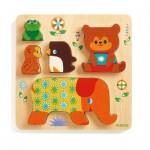 Djeco-01056 Holzpuzzle - Woodypile