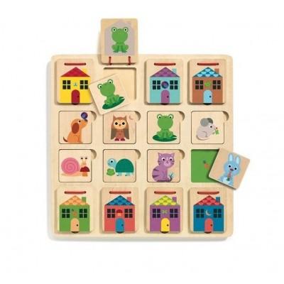 Djeco-01520 Puzzle aus Kunststoff - Puzzle Cabanimo