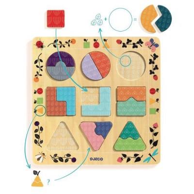 Djeco-01802 Holzpuzzle - Ludigraphic