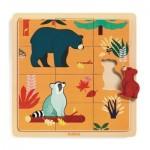 Djeco-01811 Holzpuzzle - Kanada