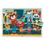 Djeco-01817 Holz-Rahmenpuzzle - Puzzlo Music