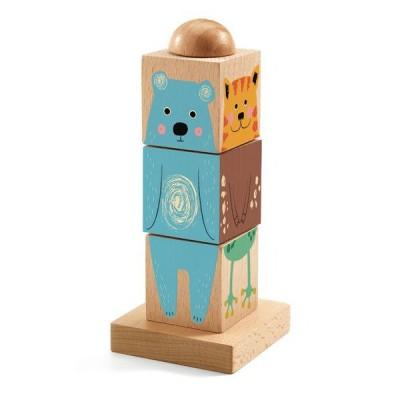 Djeco-01911 3D Holzpuzzle - Twistizz