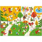 Puzzle  Djeco-07013 XXL Teile - Flocky