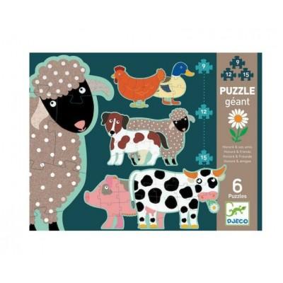 Puzzle  Djeco-07112 XXL Pieces - Honoré & Freunde
