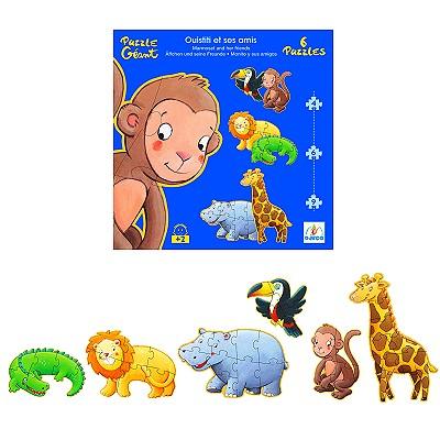 Djeco-07114 6 Puzzles - Marmoset und Freunde