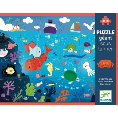 Puzzle  Djeco-07116 XXL Teile - Unter dem Meer