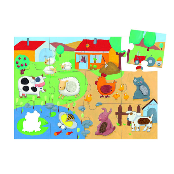 Puzzle  Djeco-07117 Tactilofarm