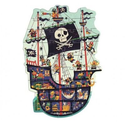 Puzzle  Djeco-07129 XXL Teile - Piraten