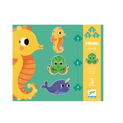 Djeco-07144 Primo Puzzle - Im Meer
