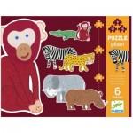 Djeco-07147 6 Puzzles - Henri & Freunde