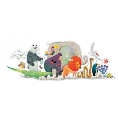 Djeco-07170 Riesen-Bodenpuzzle - Die Parade der Tiere