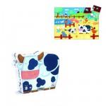 Puzzle  Djeco-07205 Kühe auf dem Bauernhof