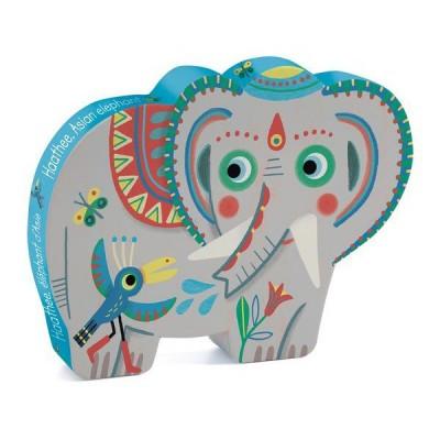 Puzzle  Djeco-07208 Haathee Asiatischer Elefant