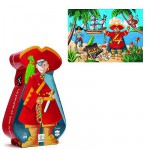 Puzzle  Djeco-07220 Der Pirat und sein Schatz
