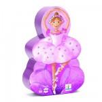 Puzzle  Djeco-07227 Ballerina mit Blume