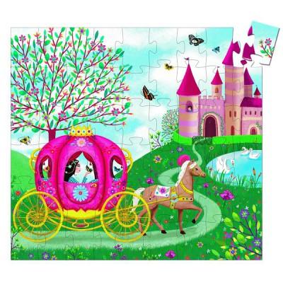 Djeco-07254 Entdecker Puzzle - Elises Carosse
