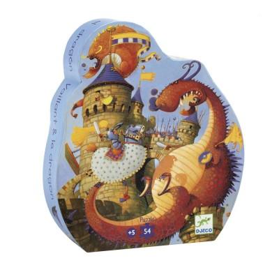 Puzzle  Djeco-07256 Vaillant und der Drache
