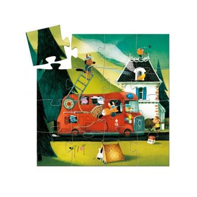 Puzzle  Djeco-07269 Feuerwehrauto