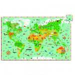 Djeco-07412 Entdecker Puzzle - Denkmäler der Welt