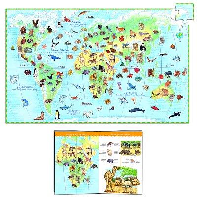 Puzzle  Djeco-07420 Tiere der Welt