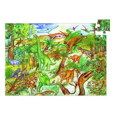 Puzzle  Djeco-07424 Dinosaurier