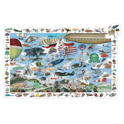 Djeco-07451 Beobachtungspuzzle - Aero Club