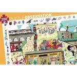 Djeco-07453 Entdecker Puzzle - Streetart
