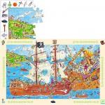 Puzzle  Djeco-07506 Die Piraten