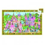 Djeco-07556 Entdecker Puzzle - Prinzessin