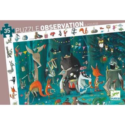 Djeco-07588 Entdecker Puzzle - Das Orchester