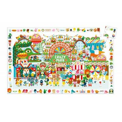 Djeco-07593 Entdecker Puzzle - Crazy Park