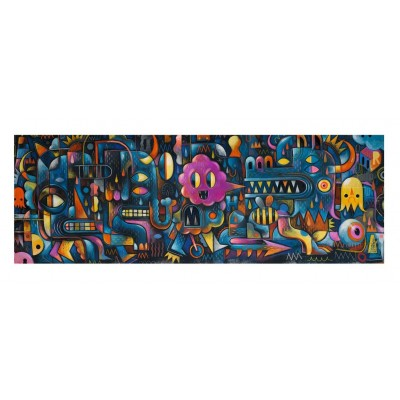 Djeco-07627 Puzzles Gallery - Monster Wall